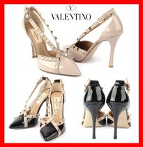 VALENTINO Street Style Elegant Style High Heel Pumps & Mules