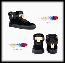 BUSCEMI Casual Style Suede Street Style Plain Low-Top Sneakers