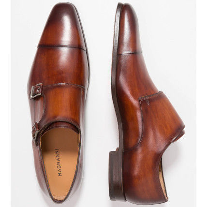 Straight Tip Monk Leather Loafers & Slip-ons