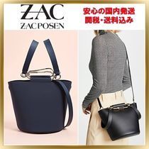 ZAC ZAC POSEN 2WAY Plain Leather Elegant Style Shoulder Bags
