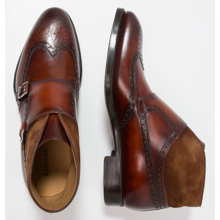 Wing Tip Monk Leather Loafers & Slip-ons