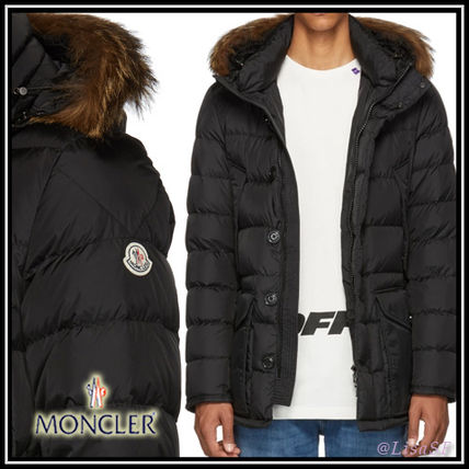... MONCLER Down Jackets Short Fur Street Style Plain Down Jackets ...