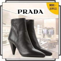PRADA Casual Style Blended Fabrics Bi-color Plain Leather
