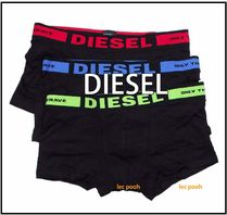 DIESEL Street Style Plain Cotton Boxer Briefs