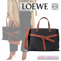 LOEWE Casual Style Plain Leather Totes