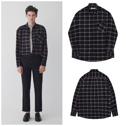 Other Check Patterns Long Sleeves Shirts