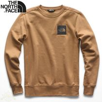THE NORTH FACE Crew Neck Street Style Long Sleeves Plain Sweatshirts