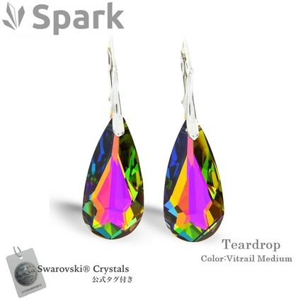 Spark Costume Jewelry Party Style Silver Earrings