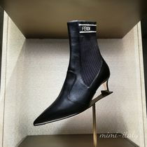 FENDI Casual Style Blended Fabrics Street Style Leather Pin Heels