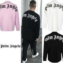 Palm Angels Street Style Long Sleeves Oversized T-Shirts