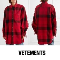 VETEMENTS Other Check Patterns Casual Style Unisex Street Style