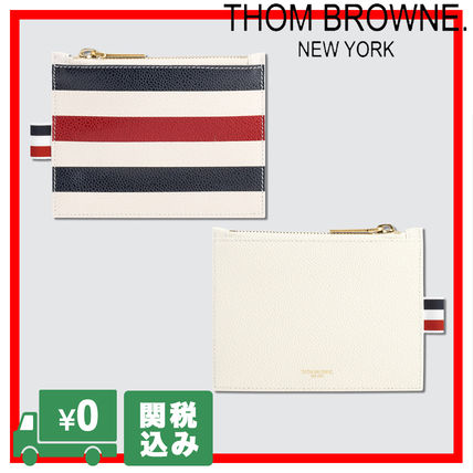 Stripes Unisex Leather Coin Cases