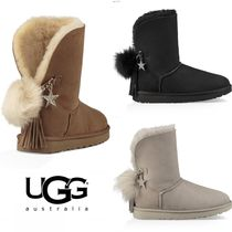 UGG Australia CLASSIC Round Toe Casual Style Sheepskin Flat Boots
