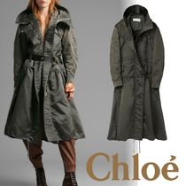 Chloe Casual Style Unisex Other Animal Patterns Long Outerwear