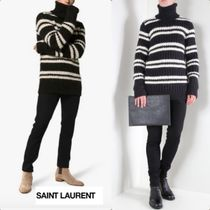 Saint Laurent Stripes Wool Low Gauge Long Sleeves Vests & Gillets