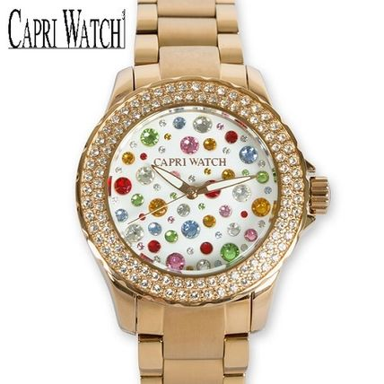 Round Jewelry Watches Stainless Elegant Style Analog Watches