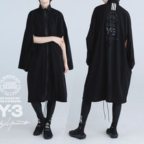 Y-3 Casual Style Street Style Plain Long Outerwear