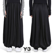 Y-3 Casual Style Plain Long Oversized Sarouel Pants