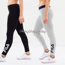FILA Casual Style Street Style Cotton Long Bottoms