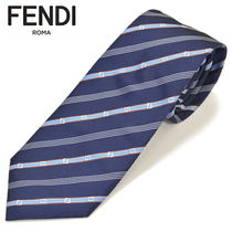 FENDI Stripes Silk Ties