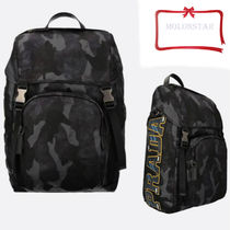 PRADA Camouflage Backpacks