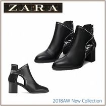 ZARA Plain Block Heels Ankle & Booties Boots
