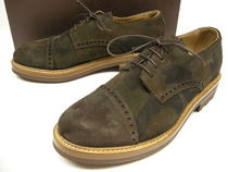 Buttero Camouflage Straight Tip Leather Oxfords