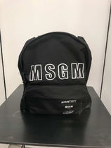 MSGM Casual Style 2WAY Plain Backpacks