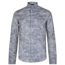 EMPORIO ARMANI Button-down Camouflage Long Sleeves Cotton Shirts