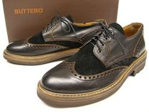 Buttero Wing Tip Leather Oxfords