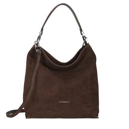 Suede A4 2WAY Plain Office Style Handbags