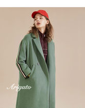 ELF SACK Casual Style Wool Plain Long Chester Coats