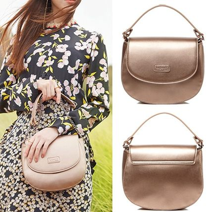 3WAY Plain Elegant Style Shoulder Bags