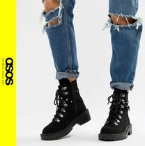 ASOS Mountain Boots Casual Style Faux Fur Outdoor Boots