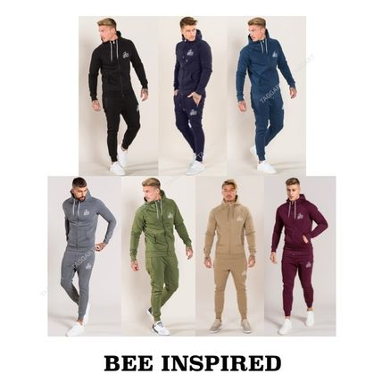 Bee Inspired Clothing Top-bottom sets Unisex Street Style Top-bottom sets
