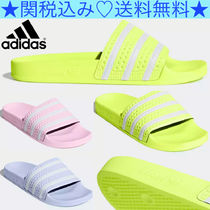 adidas ADILETTE Stripes Unisex Plain Shower Shoes Shower Sandals