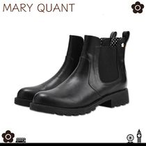 MARY QUANT Flower Patterns Block Heels Ankle & Booties Boots