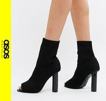 ASOS Open Toe Casual Style Block Heels Boots Boots