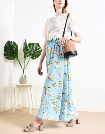 Flower Patterns Long Maxi Skirts