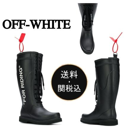 Round Toe Rubber Sole Lace-up Casual Style Lace-up Boots