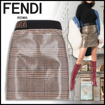 FENDI Short Other Check Patterns Skirts