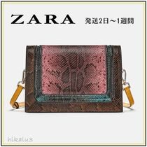 ZARA Other Animal Patterns Leather Shoulder Bags