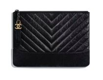 CHANEL MATELASSE Unisex Calfskin Blended Fabrics Bag in Bag Plain