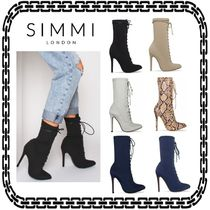 SIMMI Lace-up Casual Style Street Style Other Animal Patterns