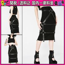 DOLLS KILL Pencil Skirts Casual Style Plain Medium Midi Skirts