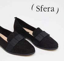 Sfera Platform Plain Toe Moccasin Faux Fur Plain Office Style