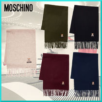 Moschino Casual Style Unisex Wool Street Style Plain