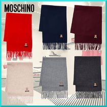 Moschino Unisex Wool Street Style Plain Heavy Scarves & Shawls