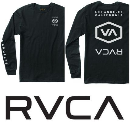 RVCA Long Sleeve Crew Neck Street Style Long Sleeves Cotton 2