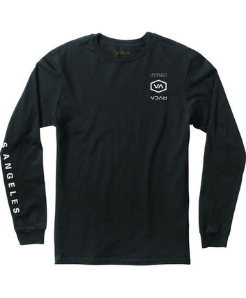 RVCA Long Sleeve Crew Neck Street Style Long Sleeves Cotton 3